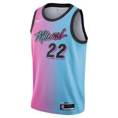 Nike Miami Heat Jimmy Butler 2020/21 Kids City Edition Swingman Jersey, Pink/Blue, rebel_hi-res