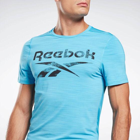 Reebok Mens Workout Ready ACTIVCHILL Graphic Tee, Aqua, rebel_hi-res