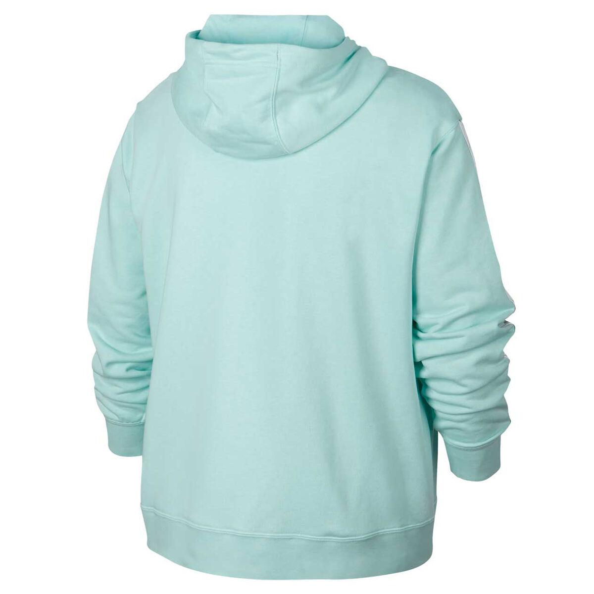NIKE Women's Sweatshirt Zip Up Grey Teal Size XL