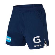 Geelong Cats 2020 Mens Training Shorts Blue XS, Blue, rebel_hi-res
