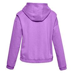Under Armour Girls VF Rival Fleece FZ Hoodie Purple XS, Purple, rebel_hi-res