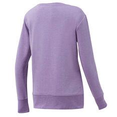 Ell & Voo Womens Vanessa French Terry Sweatshirt Purple XS, Purple, rebel_hi-res