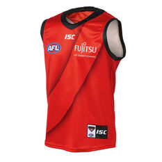 Essendon Bombers 2019 Kids Away Guernsey Red 10, Red, rebel_hi-res