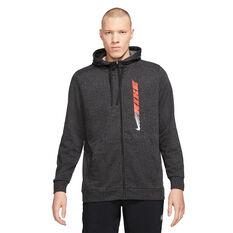 Nike Mens Dry-FIT Full Zip Fleece Sports Clash Jacket Black S, Black, rebel_hi-res