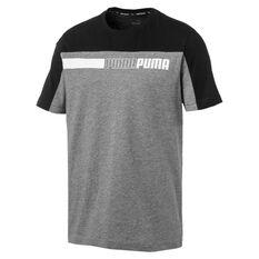 Puma Mens Modern Sports Tee Grey S, Grey, rebel_hi-res