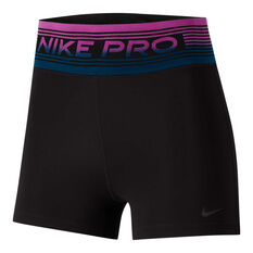 Nike Womens Power 3in Shorts Black / Multi XS, Black / Multi, rebel_hi-res