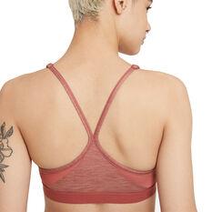 Nike Womens Dri-FIT Indy V Neck Sports Bra, Pink, rebel_hi-res