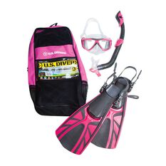 US Diver Bonito Junior Snorkel Set Pink S / M, Pink, rebel_hi-res