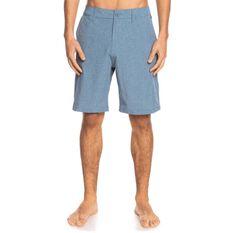 Quiksilver Mens Union Heather Amphibian 20 inch Board Shorts Blue 30 30, Blue, rebel_hi-res