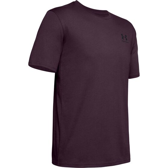 Under Armour Mens Sportstyle Left Chest Short Sleeve Tee Purple S, Purple, rebel_hi-res
