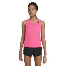 Nike Womens Dri-FIT AeroSwift Running Tank, Pink, rebel_hi-res