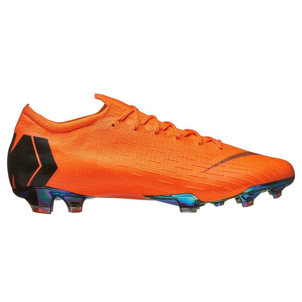 Nike Mercurial Vapor XII Mens Football Boots Orange   Black US 7 Adult 9bf69a389c34