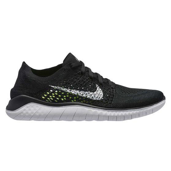 36dfc6f25611 Nike Free RN Flyknit 2018 Womens Running Shoes Black   White US 9.5 ...