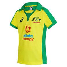 Cricket Australia 2020/21 Kids ODI Replica Shirt Yellow 6, Yellow, rebel_hi-res