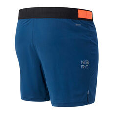 New Balance Mens Q Speed Fuel 7in Running Shorts Blue S, Blue, rebel_hi-res