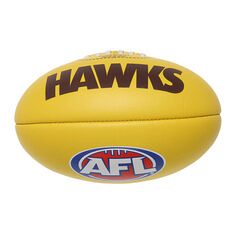 Burly AFL Hawthorn Hawks Soft Touch Mini Supporter Ball, , rebel_hi-res