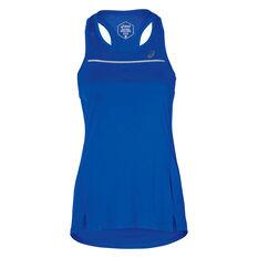 Asics Womens Lite Show Tank Blue S, Blue, rebel_hi-res