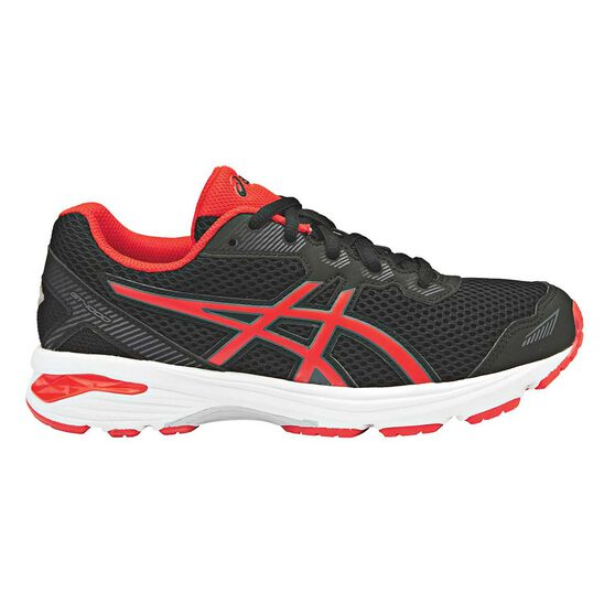 d961eea73822 Asics GT 1000 5 Boys Running Shoes Black   Red US 4