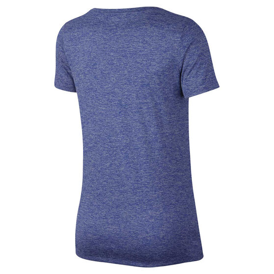 Nike Womens Dry Training Tee Blue XS, Blue, rebel_hi-res