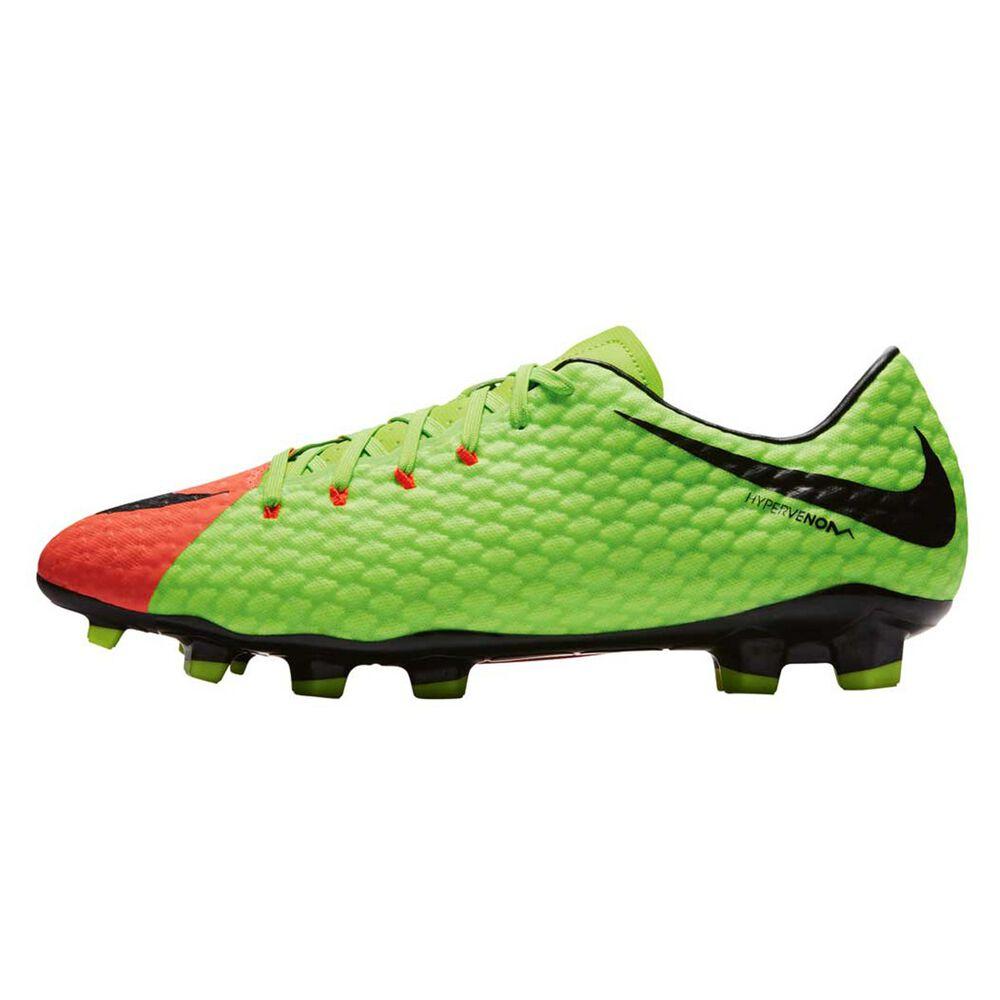 d2d71007d Nike Hypervenom Phelon III Mens Football Boots Green / Black US 9 Adult,  Green /