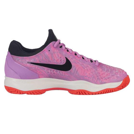 Nike Air Zoom Cage 3 Womens Tennis Shoes, Pink / Black, rebel_hi-res