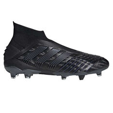 adidas Predator 19+ Football Boots Black US Mens 7 / Womens 8, Black, rebel_hi-res