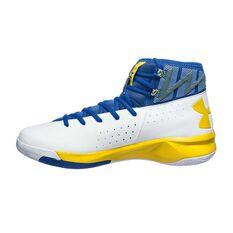 Under Armour Rocket 2 Mens Basketball Shoes White / Blue US 7, White / Blue, rebel_hi-res