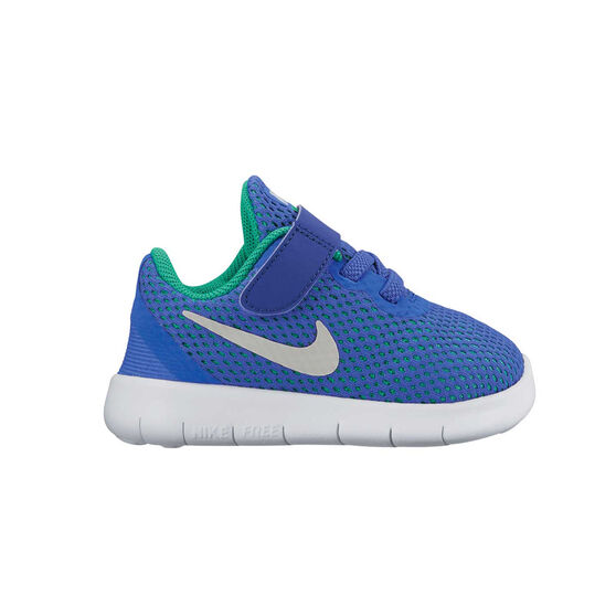 2a13ac60f3d4 Nike Free Run Toddlers Shoes Blue   White US 2