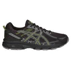 Asics GEL Venture 6 Mens Trail Trail Running Shoes Black / Lime US 7, Black / Lime, rebel_hi-res