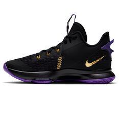 Nike LeBron Witness V Mens Basketball Shoes Black/Gold US 7, Black/Gold, rebel_hi-res