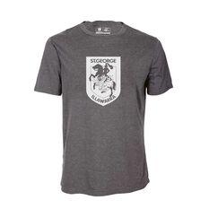 St George Illawarra Dragons Mens Tee Dark Grey S, Dark Grey, rebel_hi-res