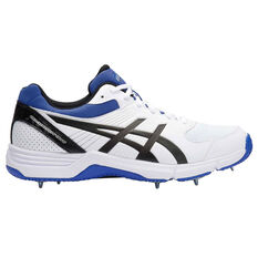 Asics Gel 100 Not Out Mens Cricket Shoes White / Black US 8, White / Black, rebel_hi-res