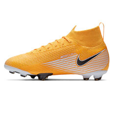 Nike Mercurial Superfly VII Elite Kids Football Boots Orange/White US 4, Orange/White, rebel_hi-res