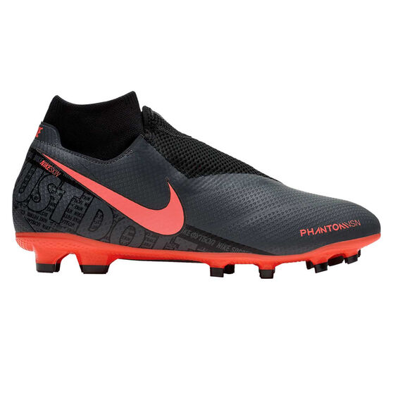 Nike Phantom Vision Pro Football Boots, Grey / Red, rebel_hi-res