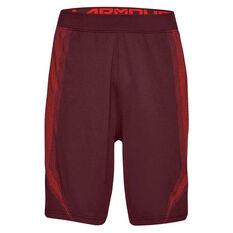 Under Armour Mens Threadborne Seamless Shorts Maroon XS, Maroon, rebel_hi-res