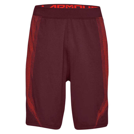 Under Armour Mens Threadborne Seamless Shorts Maroon S, Maroon, rebel_hi-res