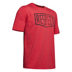 Under Armour Mens Project Rock Respect Graphic Tee Maroon S, Maroon, rebel_hi-res