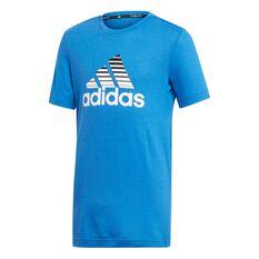 adidas Boys Training Prime Tee Blue / White 6, Blue / White, rebel_hi-res