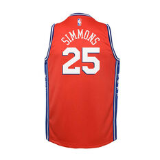 Jordan Philadelphia 76ers Ben Simmons 2020/21 Infant Statement Swingman Jersey Red 4, Red, rebel_hi-res