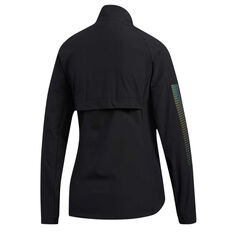 adidas Womens Rise Up N Run Jacket Black XS, Black, rebel_hi-res