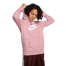 Nike Womens Sportswear Essential Fleece Pullover Hoodie Pink XS, Pink, rebel_hi-res