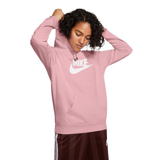 Nike Womens Sportswear Essential Fleece Pullover Hoodie, Pink, rebel_hi-res