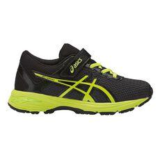 Asics GT 1000 6 Junior Kids Running Shoes Black / Yellow US 10, Black / Yellow, rebel_hi-res