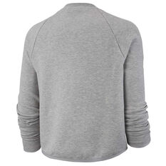 Nike Womens Sportswear Tech Fleece Crew Sweater Grey XS, Grey, rebel_hi-res