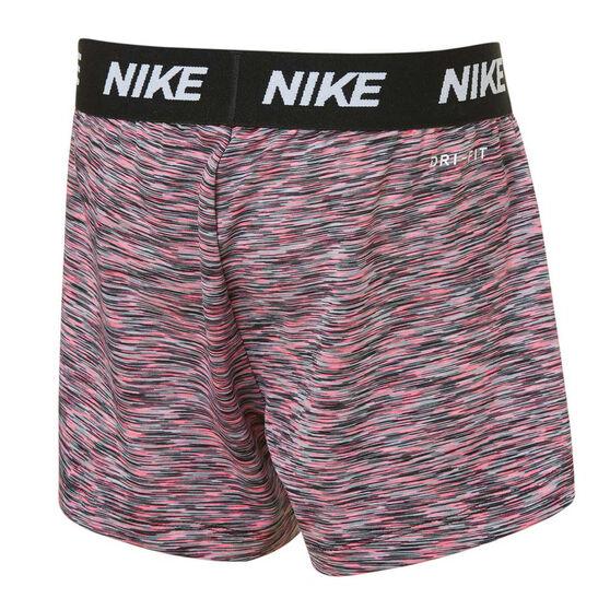 Nike Girls Wavy Jaquard Mesh Shorts, Pink, rebel_hi-res