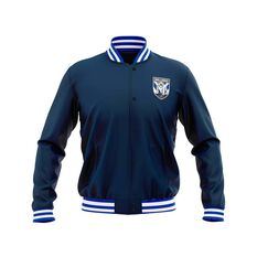 Canterbury-Bankstown Bulldogs 2019 Mens Club Varsity Jacket Navy, Navy, rebel_hi-res