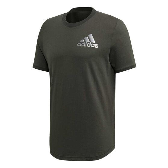 adidas Mens Sport ID Tee, Khaki, rebel_hi-res