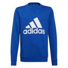 Adidas Boys VF Essential Big Logo Sweatshirt Blue 4, Blue, rebel_hi-res