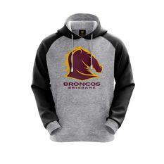 Brisbane Broncos 2019 Mens Hoodie Grey S, Grey, rebel_hi-res