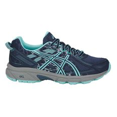 Asics Gel Venture 6 Kids Running Shoes Blue / Grey US 1, Blue / Grey, rebel_hi-res